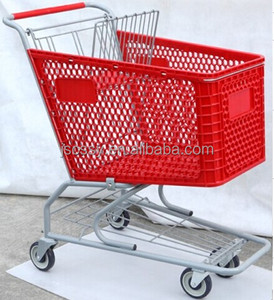 Rolling grocery plastic shopping trolley cart