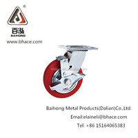 pu caster wheel with brake