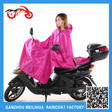 Wholesale XXL Size Nylon Vinly Reusable Women Purple Pink Rain Poncho