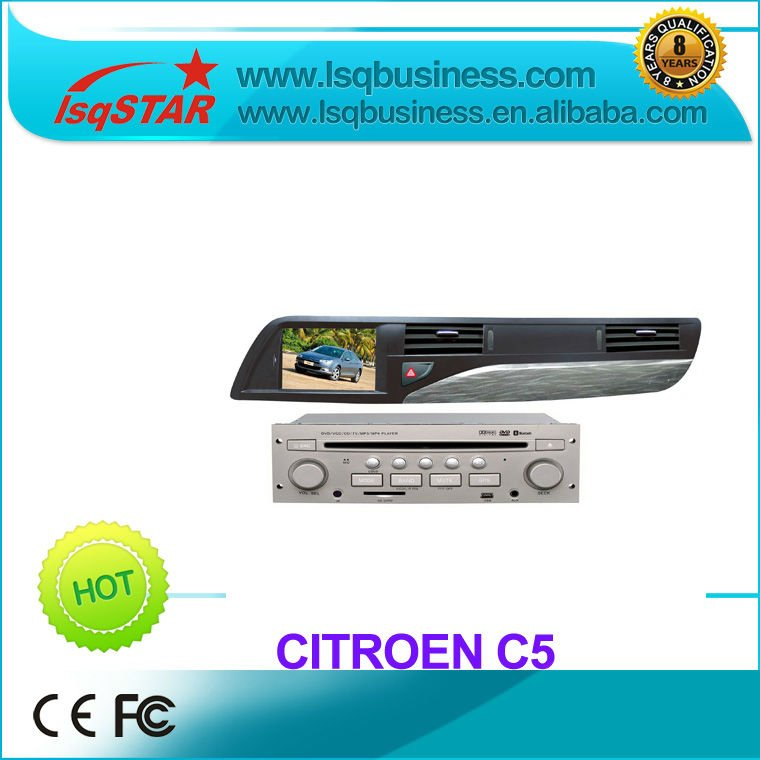 lsqstar auto radio for Citroen C5 with gps navigation