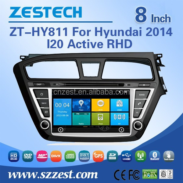 ZESTECH wholesale Chinese 2 din car dvd for Hyundai I20 Active 2014 RHD with car dvd stereo radio Canbus/TV AM/FM