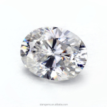 1.5cts oval crushed ice cut 9x7mm oval moissanite gemstones for solitare ring