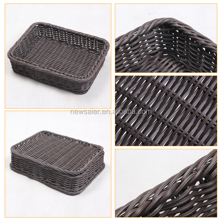 pp rattan baskets for bread/fruits in supermarket