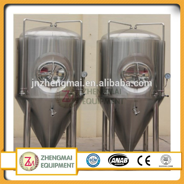 Arc argon welding customized jinan city brewery equipment,beer fermentation tank used