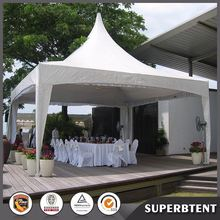 3x3m,4x4,5x5,6x6,8x8,10x10m white cover high peak pagoda tent made by foshan tent factory