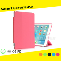 High quality pu smart cover case for ipad pro 9.7'' 12.9'' smart cover front case+pc back case