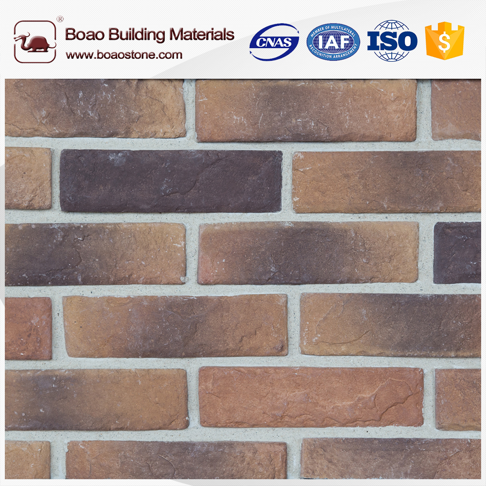 Restaurant wall manufactured brick veneer panels
