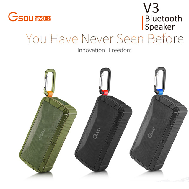 Gsou 10W Bluetooth Speaker, 5.1 Bluetooth Speaker, Stereo Bluetooth Speaker Portable Wireless Mini