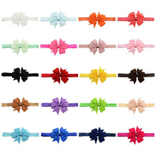 Wholesale Hair Accessories Baby Flower Elastic Bowknot Headband Bow