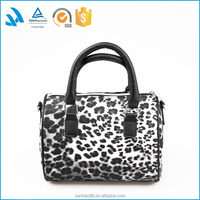 Short sample time high quality fashion leather tote bag for ladies