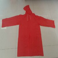 Adult Red 100% PVC Rain Suit with Customer' S Logo for Promotion