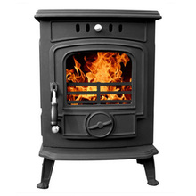 Smaller Cast Iron Glass Window Secondary Burn Wood Coal Burning Stoves Top Or Rear Flue