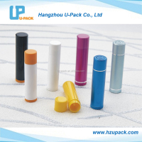 Plastic or Aluminum empty lipstick tube lip balm container