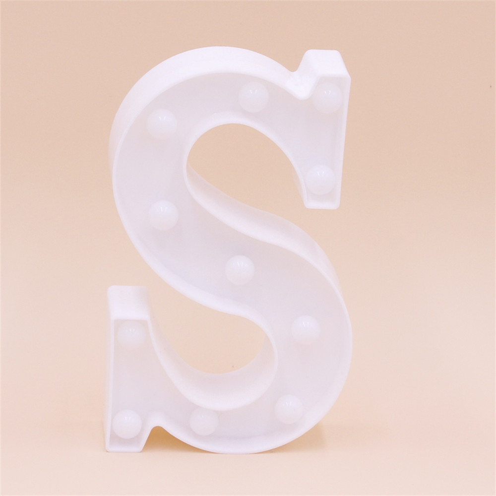 STOP 2018 Newly Products Custom Made Letter LED Bulb Light 3D Marquee Letter