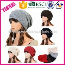 MEN WOMEN BRAIDED BAGGY BEANIE OVERSIZED SLOUCHY SKI CAP KNITTED HAT