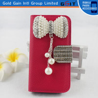 [GGIT] Elegant Bling Diamonds Leather Flip Wallet Case Cover For Samsung S4 mini I9190
