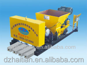 Concrete upright pole post/transom making/forming machine prestressing