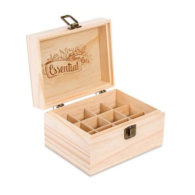 Wood Essential Oil Box Carved Made Various Size Wooden Box