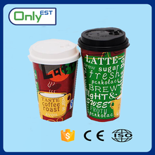 Wholesale high quality disposable food grade cold paper cup with dome lid
