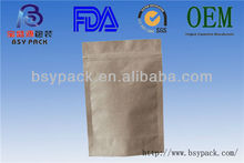 Plain kraft paper bags for garments packaging