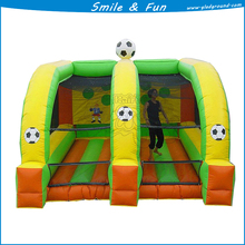 Inflatable football tunnel type inflatable sport games size 6*4m 2 lane