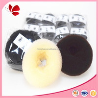 customized size sponge hair bun donut hair accessories in opp bag for women bun