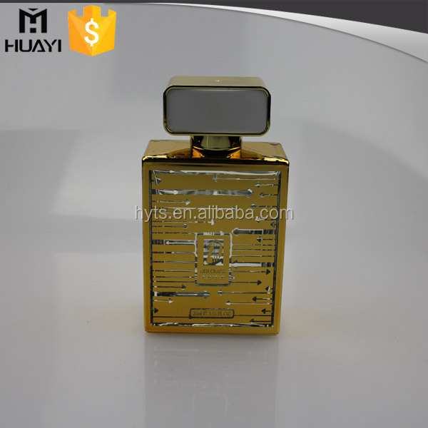 100ml rectangle shaped printing your own logo glass perfume bottle for perfume