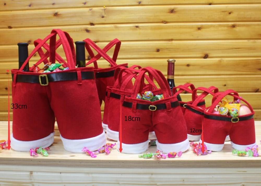 christmas gift bags in bulk,Felt Santa Pants christmas candy bag ...