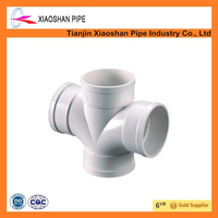 China supplier heavy duty pvc pipe fittings 4 way pipe connector