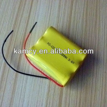 Rechargeable AA batteries Ni-Cd battery pack 3.6V 600mAh