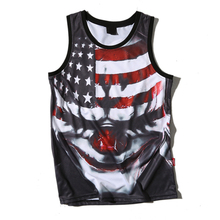 Hot Sale Men American Flag Design Bodybuilding Stringers Gym Tank Tops Fitness Bodybuilding Tank Top Funny Vest