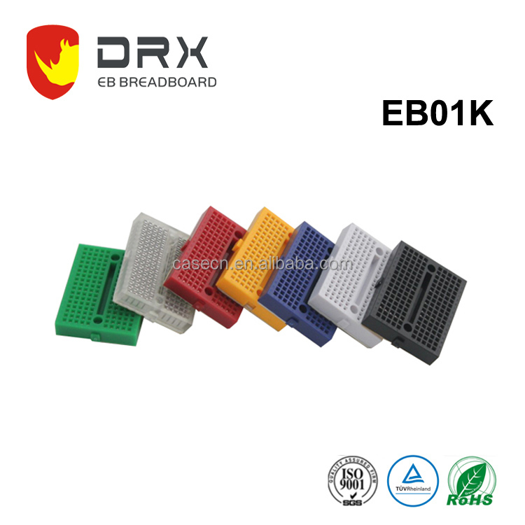 DRX 170 Tie Points Colorful Mini Electrical Breadboard for Students DIY