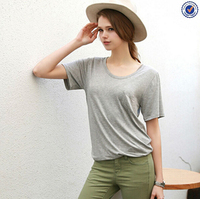 Women Basic T shirts Woman's Cotton Loose Solid Simple T-Shirts 2016 New Ladies Summer Tshirts