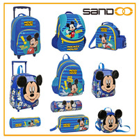 Wholesale different kinds of cartoon picture school bag, cheap mickey mouse bag for kids