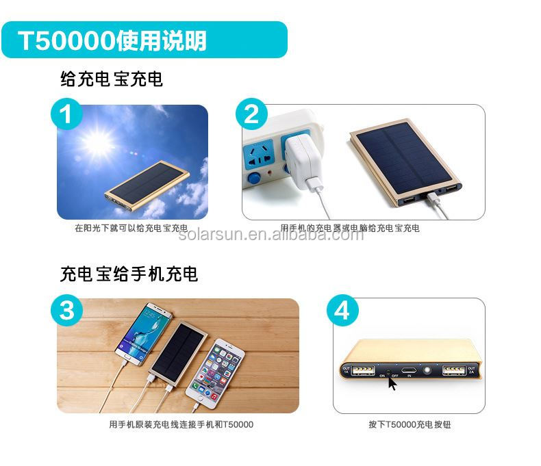 Foldable solar charger 24W 4A outdoor solar backpack solar panel charger usb battery charging for phone Power Bank & Pad
