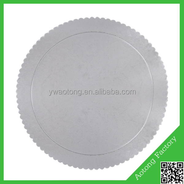food grade silver laminated cake boards for bakery