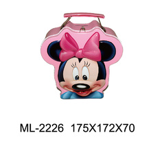 Cartoon printing Minnie Mouse lunch tin box