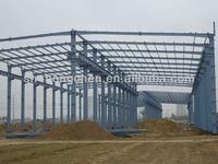 Prefab steel structure warehouse/mineral wool sandwich panel