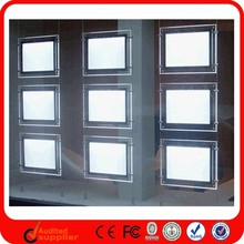 Wholesale Wall Hanging Slim Acrylic Led Crystal Light Box For Real Estate