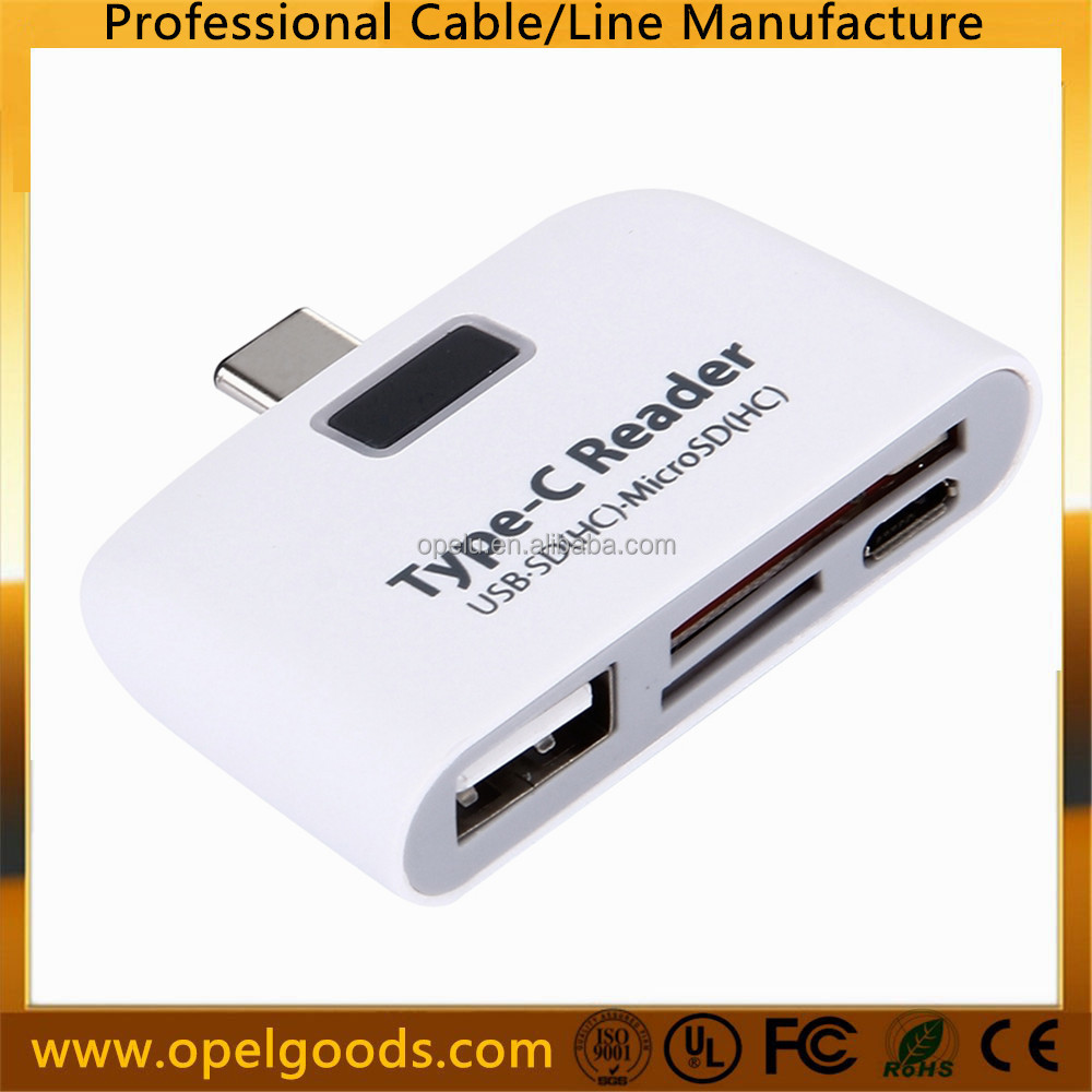 USB 3.1 Type C Male TO SD TF MICRO USB OTG Adapter Reader Card