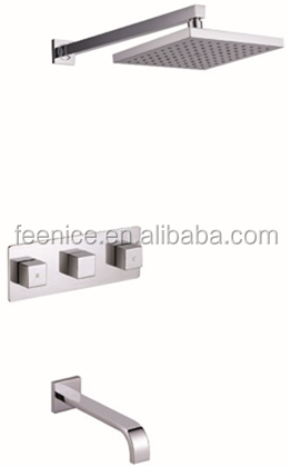 Square Bathroom Rainfall shower faucet hidden shower set FNF62021P