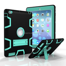 Heavy Duty Dual Layer Tough Rugged Hybrid Stand Armor Shockproof Case for iPad Air 2