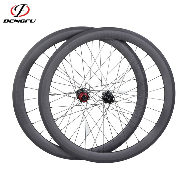 carbon road wheelset clincher 700C 50mm depth carbon fiber disc wheels
