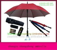 high quality promotional straight led umbrella with light on handle