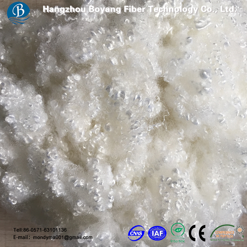 Recycled 3Dx64mm HCS Pillow Stuffing Materials Polyester Pet Pe Fiber Fill