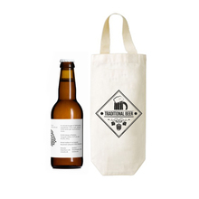 Reusable canvas wine tote bag/beer bottle packing bag