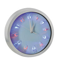 Wall clock with LED light on dial