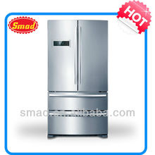 high quality fench door side by side refrigerator with drawer