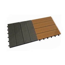 Eco-friendly and durable interlocking outdoor flooring/wpc diy decking tile for sale