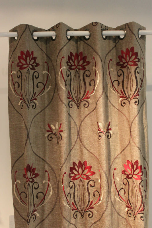 Embroidery gray 2012 curtain design